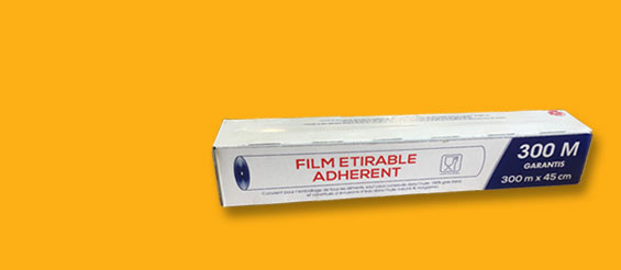 New: food packaging stretch film with dispenser box