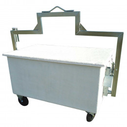 Four-wheel composite material carcass container