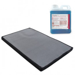 Kit Boot disinfection mat + disinfectant solution 1L
