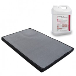 Kit Boot disinfection mat + disinfectant solution 5L