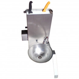 Knife sterilizer with hand wash basin