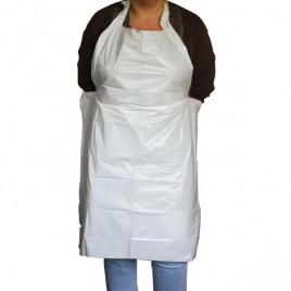 Disposable polyethylene apron