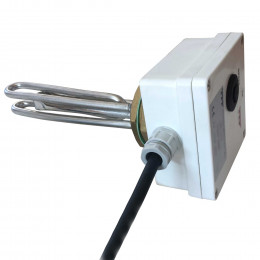 Immersion heater element for hot water knife sterilizers