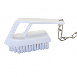 Nail brush with chain