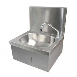 Hand wash basin with apron support